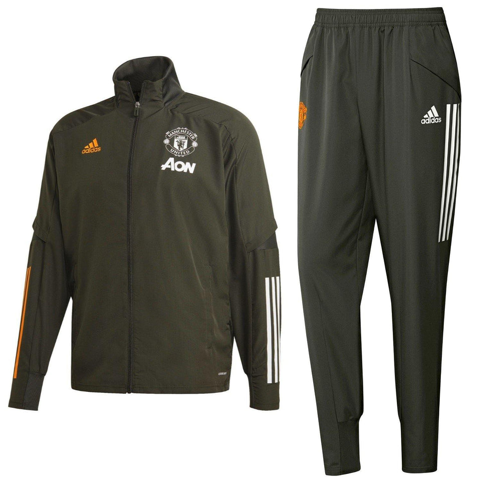 Manchester United green presentation Soccer tracksuit 2020/21 - Adidas
