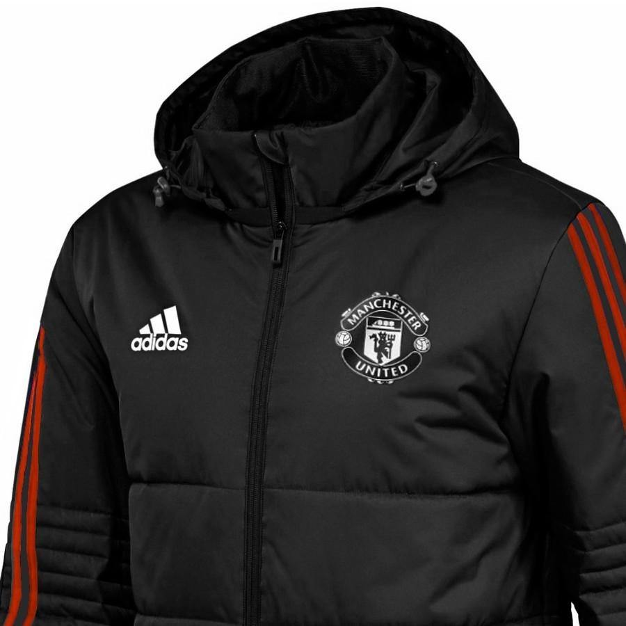 : adidas 2018 2019 Man Utd 3S Hooded Zip (Navy