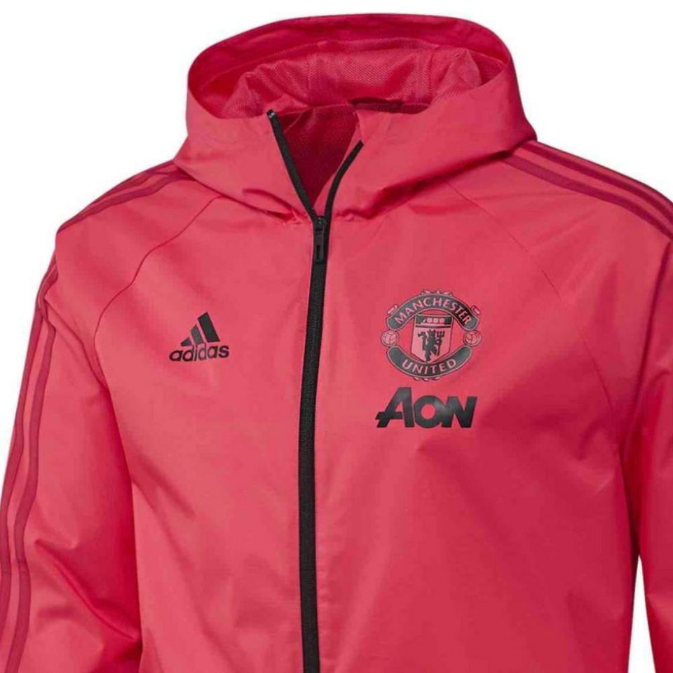 7174aefdcc1 ... Manchester United soccer red training rain jacket 2018 19 - Adidas ...