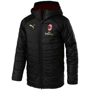 AC Milan training bench soccer padded jacket 2018/19 - Puma - SoccerTracksuits.com