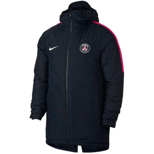 Paris Saint Germain soccer black bomber down jacket 2018/19 - Nike - SoccerTracksuits.com