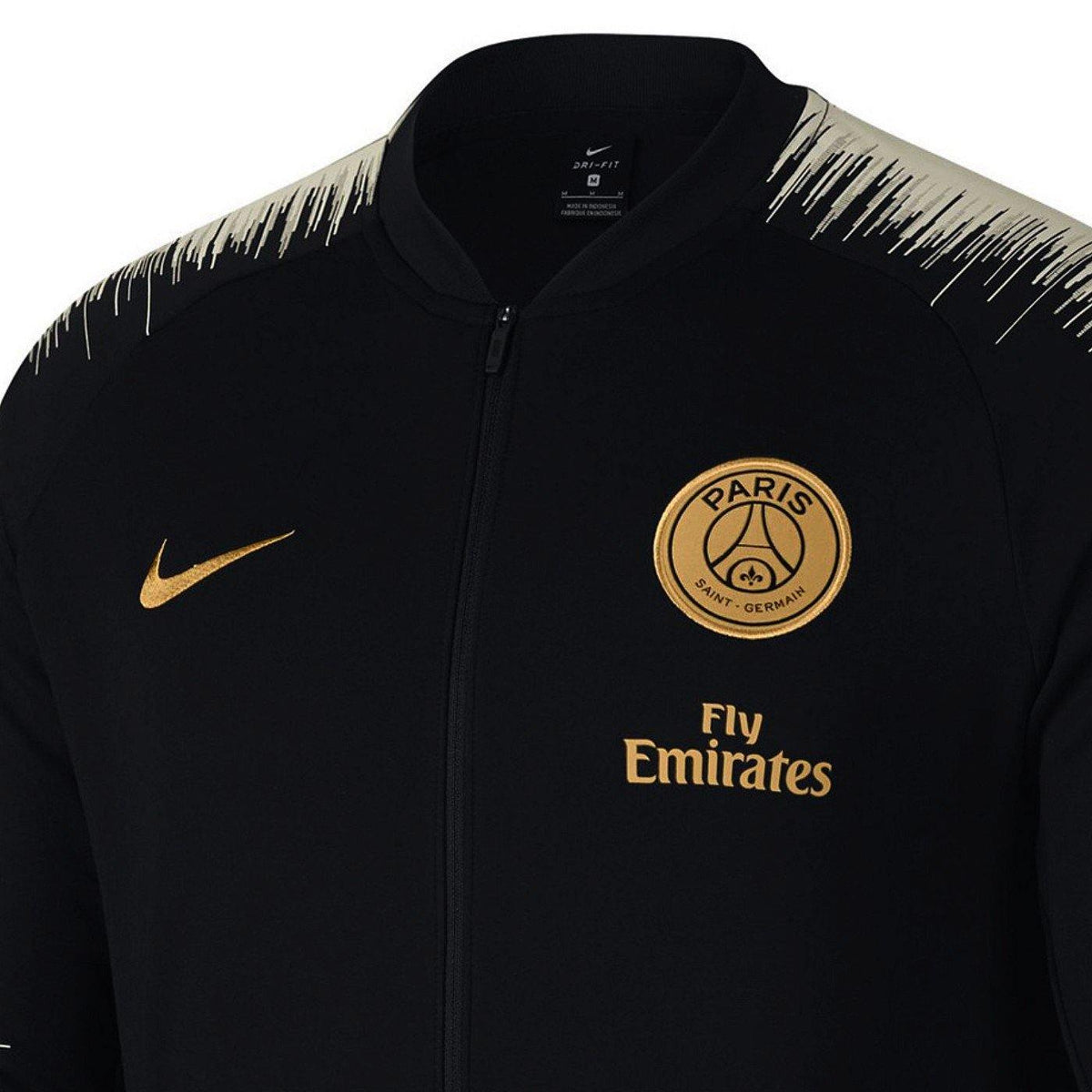 pretty nice e0ef8 32853 Paris Saint Germain soccer black Anthem presentation jacket 2018/19 - Nike