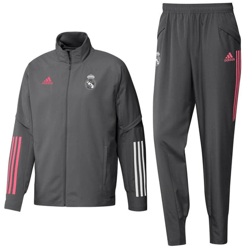 Real Madrid grey presentation soccer tracksuit 2020/21 - Adidas