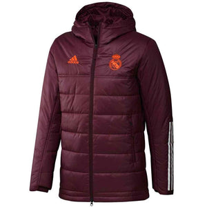 Real Madrid UCL winter training bench soccer jacket 2020/21 - Adidas