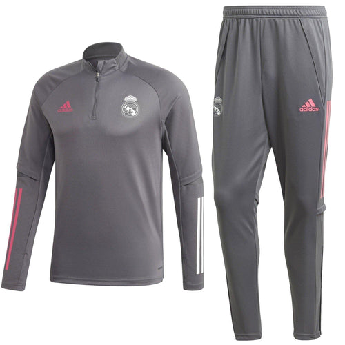 Real Madrid soccer grey technical training tracksuit 2020/21 - Adidas