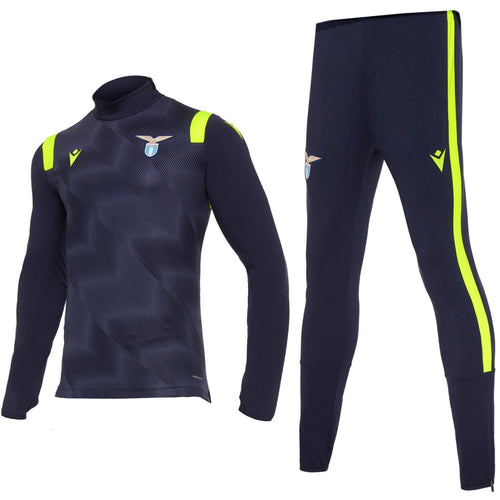 SS Lazio navy training technical Soccer tracksuit 2020/21 - Macron