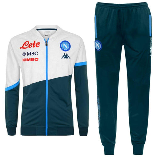 SSC Napoli green training presentation Soccer tracksuit 2020/21 - Kappa