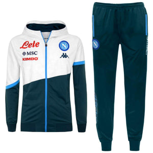 SSC Napoli green hooded presentation Soccer tracksuit 2020/21 - Kappa
