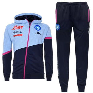 SSC Napoli hooded training presentation Soccer tracksuit 2020/21 - Kappa