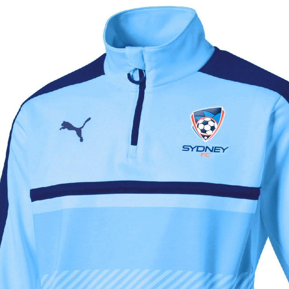 Sydney FC soccer training technical sweat top 2017/18 - Puma - SoccerTracksuits.com