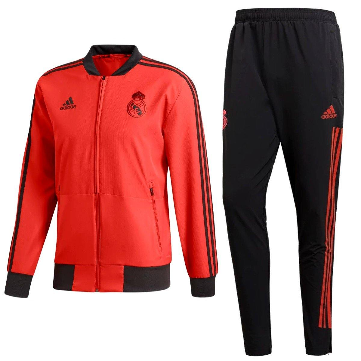 a8f1d0525 Real Madrid training presentation soccer tracksuit UCL 2018 19 - Adida –  SoccerTracksuits.com