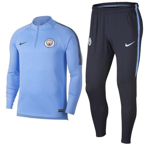 Manchester City light blue training technical soccer tracksuit 2018/19 - Nike - SoccerTracksuits.com