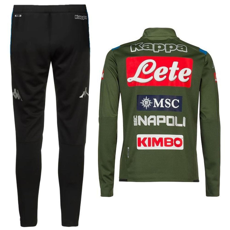 SSC Napoli green training technical Soccer tracksuit 2019/20 - Kappa - SoccerTracksuits.com