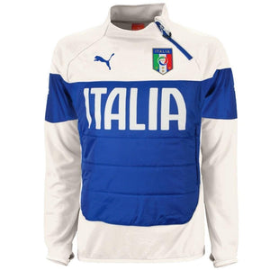 Italy soccer padded training technical tracksuit 2016 white - Puma ...