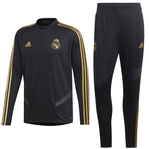 Real Madrid soccer black technical training tracksuit 2019/20 - Adidas - SoccerTracksuits.com