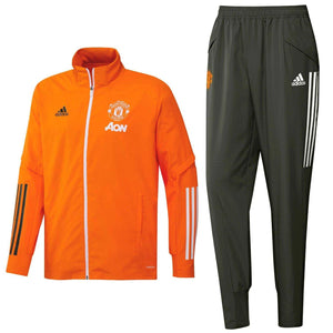 Manchester United orange presentation Soccer tracksuit 2021 - Adidas