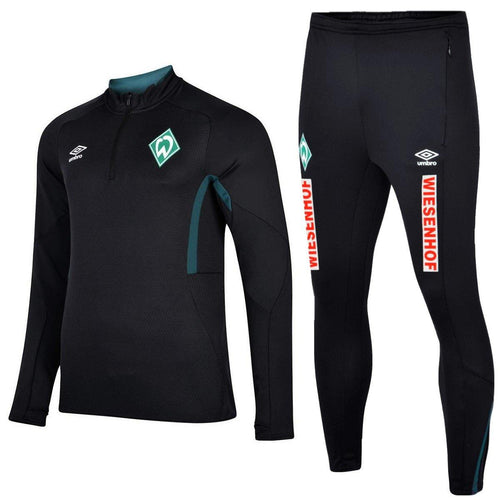 Werder Bremen soccer black training technical tracksuit 2020 - Umbro