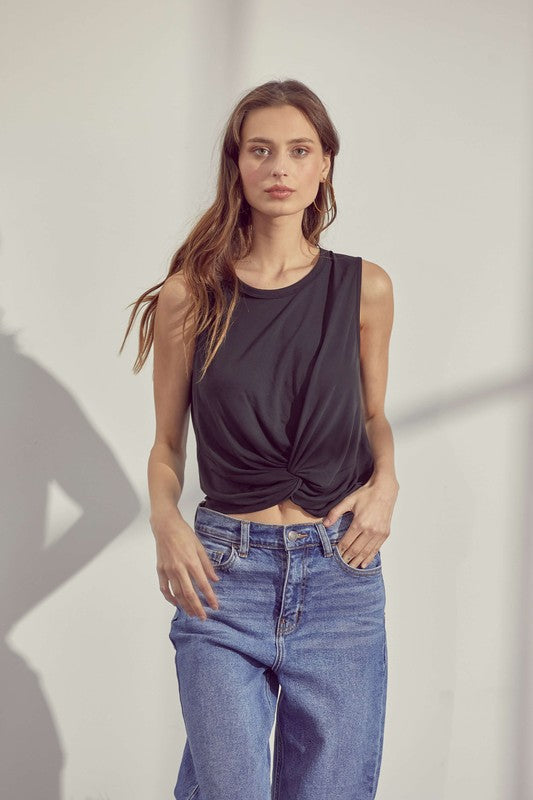 Sleeveless Knot Top