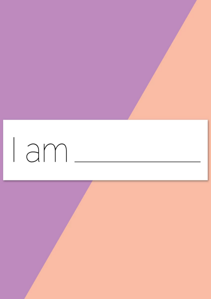 "Window Cling- ""I Am"""