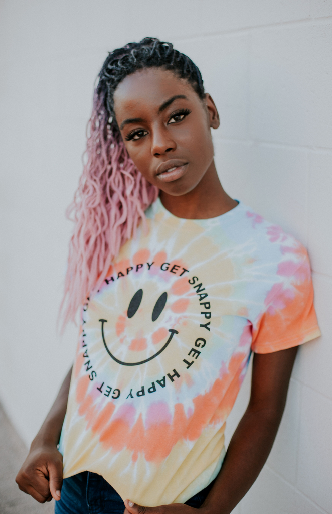 Get Happy, Get Snappy Tie Dyed Tee