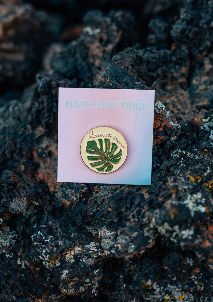 "Hair Love Bontanical ""Blossom Into Awesome"" Pin"