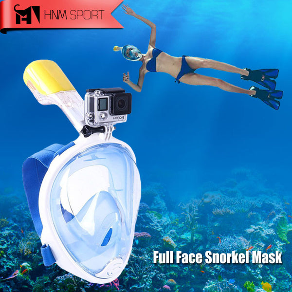 Full Face Snorkel Mask with Mini Camera attachment (anti-fog anti-skid ring)