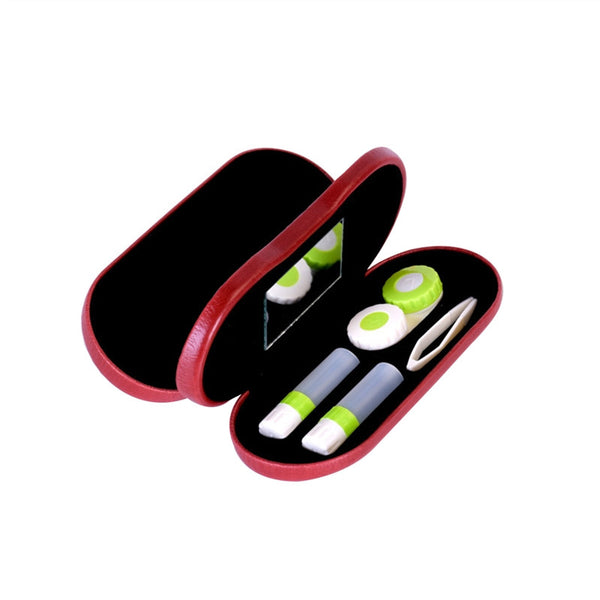 2-in-1 Eyeglass and Contact Lens Case for Home or Travel Kit