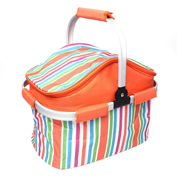 Insulated Picnic Basket Lunch Tote-Bag for Outdoor Picnic BBQ Holiday Parties