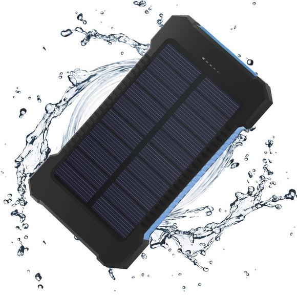 NEW Waterproof Solar Battery Charger Power Bank Dual USB