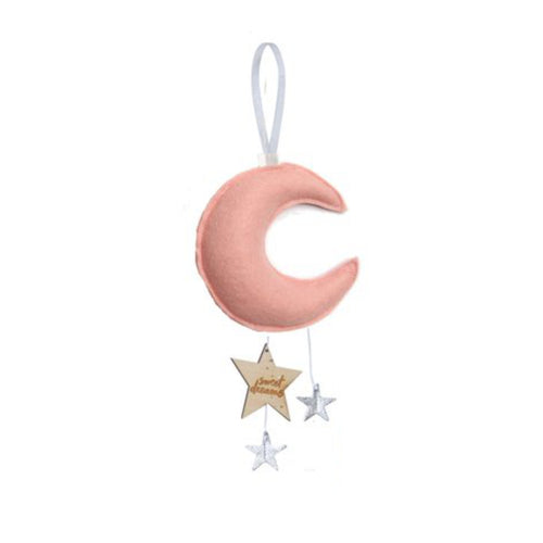 Luxe Mini Moon Keepsake - Rose with Silver Stars | Baby Jives Co