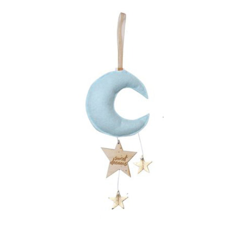 Luxe Mini Moon Keepsake - Ice Blue with Gold Stars | Baby Jives Co