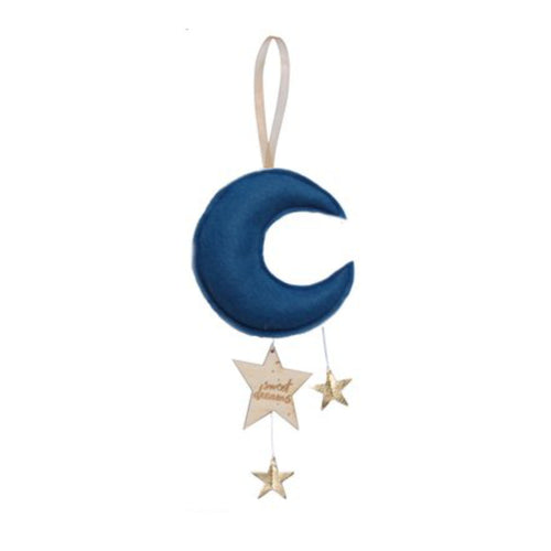 Luxe Mini Moon Keepsake - Indigo with Gold Stars | Baby Jives Co