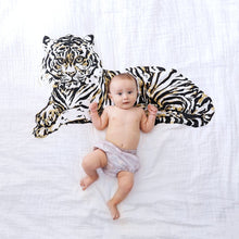 Load image into Gallery viewer, Organic Cotton Swaddle Blanket - Tiger - Baby Jives Co