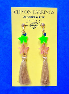 """Starlight"" Clip On Earrings 