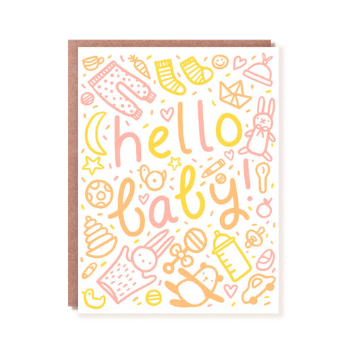 Hello Baby | Letterpress Greeting Card | Hello!Lucky