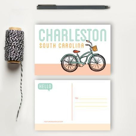 Charleston Bicycle Postcard | Texture Design Co