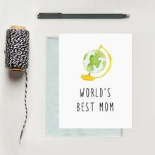 Load image into Gallery viewer, World's Best Mom Greeting Card | Texture Design Co