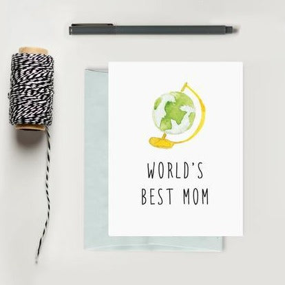 World's Best Mom Greeting Card | Texture Design Co