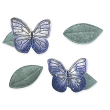 Load image into Gallery viewer, Lilac Butterfly + Leaf Clips - Baby Jives Co