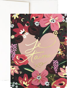 Je T'aime Roses | Greeting Card | Idlewild Co