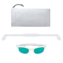 Load image into Gallery viewer, Polarized Sunglasses | White w/ Sea Green Lenses | WeeFarers