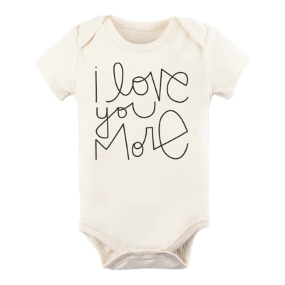 I LOVE YOU MORE | SHORT SLEEVE Organic Bodysuit | Tenth & Pine