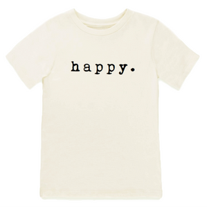 happy TEE | Short Sleeve Toddler Tee | Tenth & Pine
