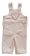 Load image into Gallery viewer, Pineapple sunshine pink heart pocket dungaree