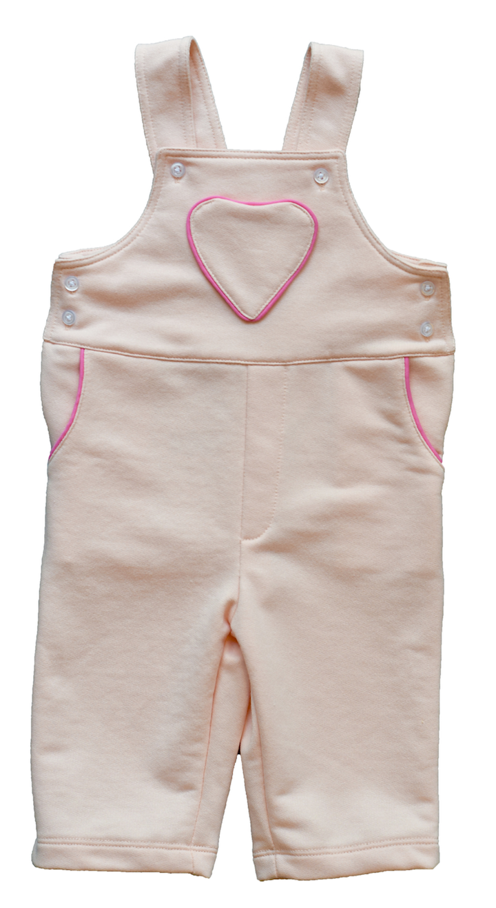 Pineapple sunshine pink heart pocket dungaree