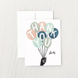 Thank You Balloons Greeting Card | Idlewild Co.