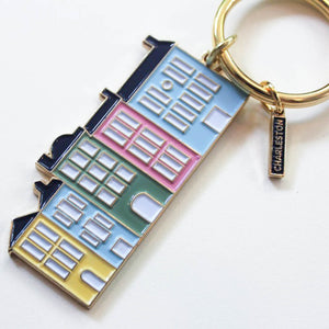 Rainbow Row Keychain | The Town Serif