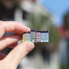 Load image into Gallery viewer, Rainbow Row Enamel Pin | The Town Serif