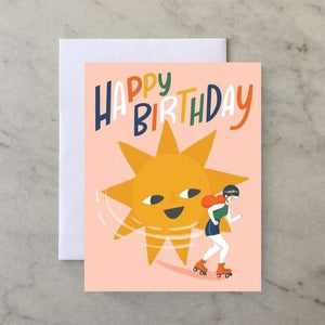 Roller Girl Birthday | Greeting Card | The Town Serif