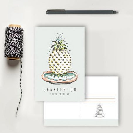 Pineapple Fountain Postcard | Texture Design Co